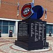 Monument For The Montreal Canadiens Poster