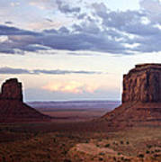 Monument Valley At Sunset Poster