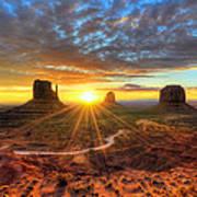 Monument Valley Sunrise Poster