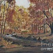 Moody Woods In Fall Poster
