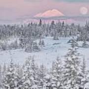 Moon At Sunrise Poster