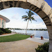 Moon Gate In Bermuda Poster by George Oze