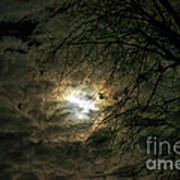 Moon Light With Clouds Poster