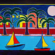 Moon Over Miami Poster by Marlene MALKA Harris