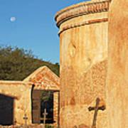 Moon Over Tumacacori Mortuary Poster