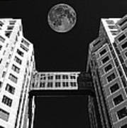 Moon Over Twin Towers Poster