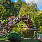 Moonbridge - The Beautifully Renovated Japanese Gardens At The Huntington Library. Poster