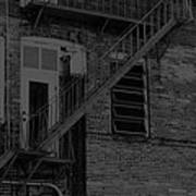 Moonlight Fire Escape Usa Near Infrared Poster