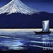 Moonlight On Fujiyama Poster