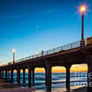 Moonlight Pier Poster