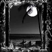 Moonlight Surf Poster