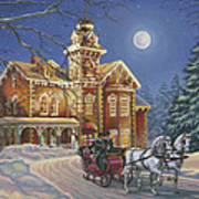 Moonlight Travelers Poster by Richard De Wolfe