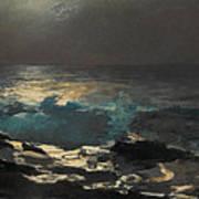 Moonlight. Wood Island Light Poster