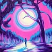 Moonlit Forest Poster