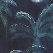 Moonlit Palms Poster