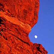 Moonrise Balanced Rock Arches National Park Utah Poster