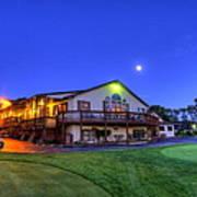 Moonrise On Golfcourse In Salem Ohio Poster