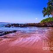 Moonrise Over Maui Poster
