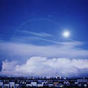 Moonrise Over Nova Harfa Poster