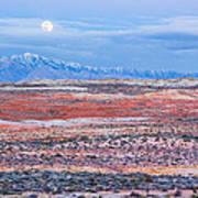 Moonrise Over Virgin Peak Poster