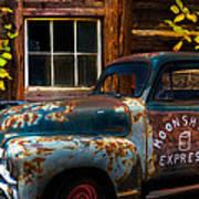 Moonshine Express Poster by Debra and Dave Vanderlaan
