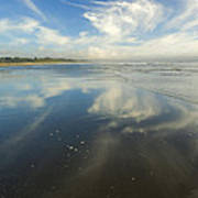 Moonstone Beach Reflections Poster