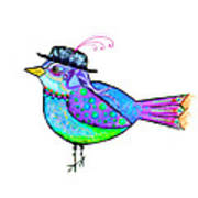 Moonworld Series - Birdy Bard Poster