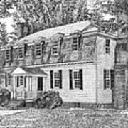 Moore House In Yorktown Virginia Poster