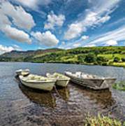 Moored Boats  Poster by Adrian Evans