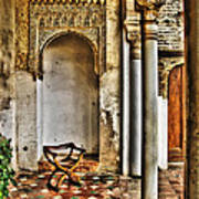 Moorish Chair And Alcove At The Alhambra Poster