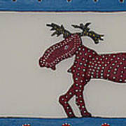Moose Coming Home For Christmas Poster