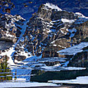 Moraine Lake Reflection Abstract Poster