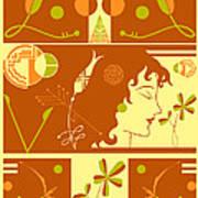 Morioka Montage In Sixties Sunshine Poster