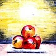 Morning Apples Poster