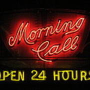Morning Call Neon - New Orleans La Poster