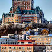 Morning Dawns Over The Chateau Frontenac Poster