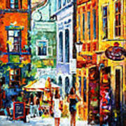 Morning Gossip - Palette Knife Oil Painting On Canvas By Leonid Afremov Poster