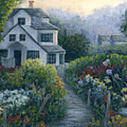Morning In A Maine Garden Poster