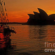 Morning In Sydney Harbour Poster
