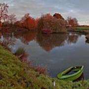 Morning Light Lenton Fishing Pond Poster
