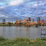 Morning Light Upon Downtown Little Rock - Arkansas - Skyline Poster