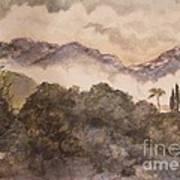 Morning Mist Pasadena Poster