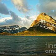 Morning Mountains At Many Glacier Poster