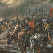 Morning Of The Battle Of Agincourt, 25th October 1415, 1884 Oil On Canvas Poster