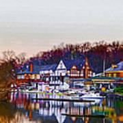 Morning On Boathouse Row Poster