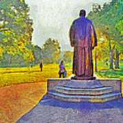 The William Oxley Thompson Statue. The Ohio State University Poster