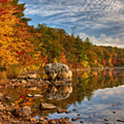 Morning Reflection Of Fall Colors Poster