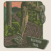 Morning Run On The Wildwood Trail Poster by Mitch Frey