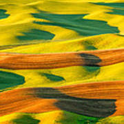 Morning Shadows On The Palouse Poster