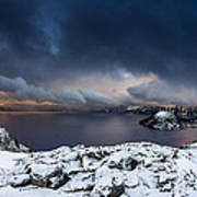 Morning Storm At Crater Lake Poster